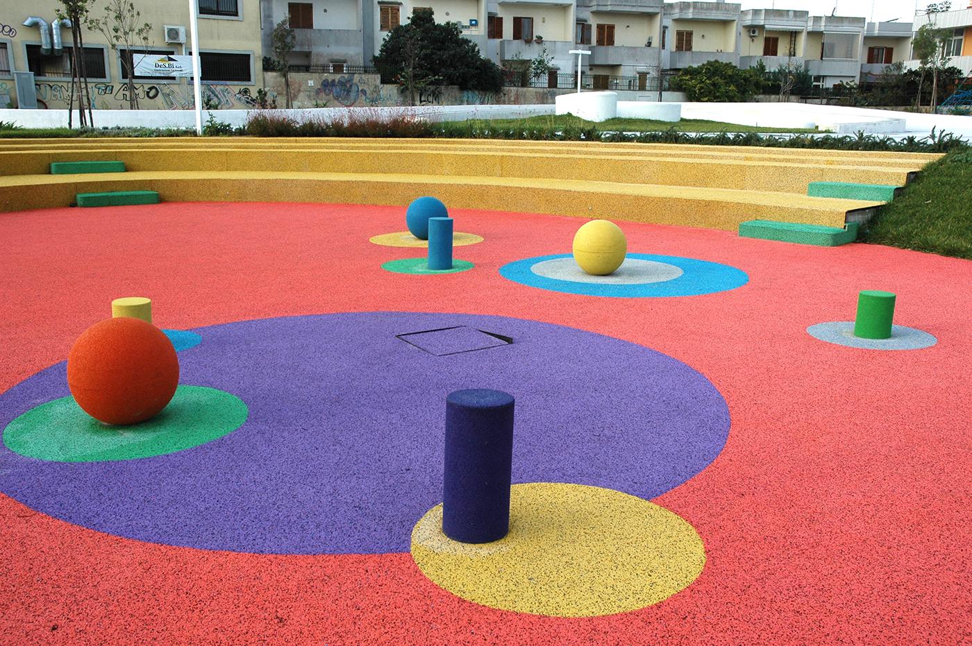 Pavimentazione antitrauma Colata in opera Lecce (LE)